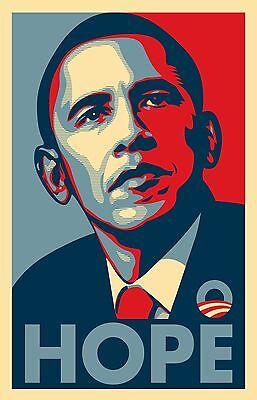 "Barack Obama FAIREY (Hope) RARE Campaign Poster 16"" x 22"" - NEW"
