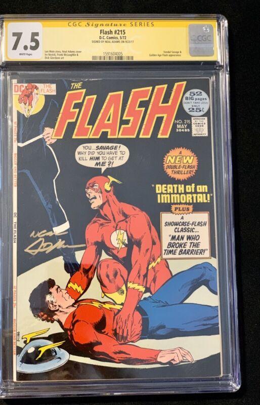 Flash #215 1972 CGC 7.5 signed Neal Adams