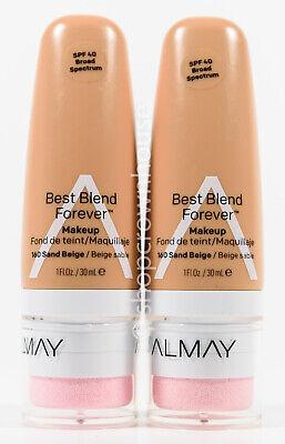 2 Almay Best Blend Forever Makeup SPF 40 1 fl oz #160 SAND (Almay Best Blend Forever Makeup)