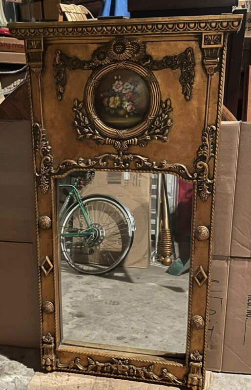 Gilded Victorian French Trumeau Wall Mirror