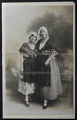 Photo Two Beautiful Lady Dressmaker, Dressmaker Shears, Fashion Marseille (1830)
