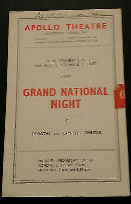 1946 Apollo Theatre: Leslie Banks Charles Groves in GRAND NATIONAL NIGHT
