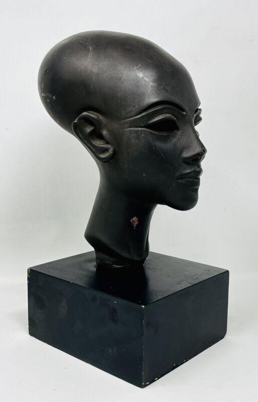 Vintage 50's Alva Studios Egyptian Princess Of Amarna Sculpture Museum Replica
