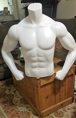 Fusion Specialties Male Torso Mannequin With Magnetic Removable Armsbase