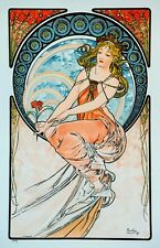La Peinture 1898 Alphonse Mucha art nouveau poster indoor ...