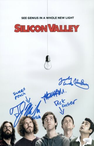 Miller & Middleditch SILICON VALLEY CAST X4 Signed 11X17 Photo Autograph JSA COA