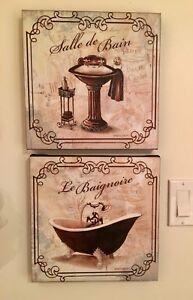 Cadres pour salle d'eau/bain