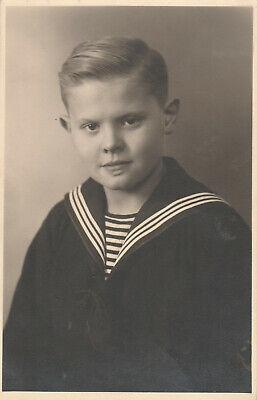 Foto AK Hübscher blonder Junge im Matrosenanzug Neuss ()