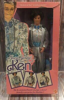 Vintage 1986 Jewel Secrets Ken Barbie Doll Tuxedo In Box