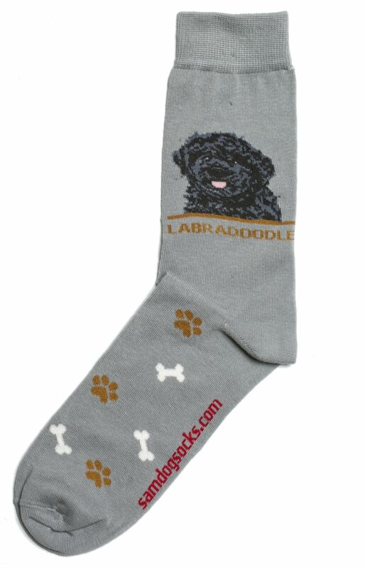 Labradoodle Black Dog Socks Mens