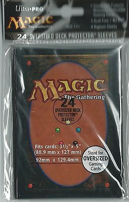 (24 Ultra Pro Magic CARD BACK OVERSIZED Deck Sleeves Factory Seal Commander 82630)