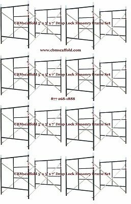 8 Set Of 5 X 5 X 7 Masonry Bj Drop Lock 1.69 Scaffold Frame Set Cbmscaffold