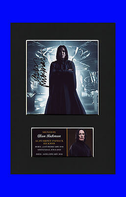 Alan Rickman Severus Snape Quality signed Mounted Pre-Print Harry Potter