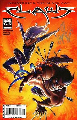 WOLVERINE & BLACK CAT: CLAWS #2 SIGNED BY ARTIST JOSEPH MICHAEL LINSNER