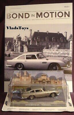 Eaglemoss 1:43 Diecast James Bond Aston Martin DB5 Thunderball #1 with magazine