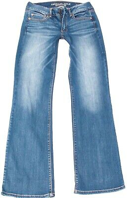 AMERICAN EAGLE 🦅 FAVORITE BOYFRIEND 👖 JEANS SUPER STRETCH Size 6 Long 28x34