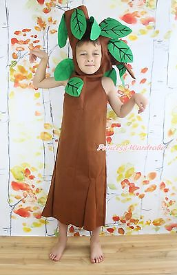 HALLOWEEN GIFT Brown Tree Outfit Unisex Child Kids Cosplay Party Costume 2-7Year](Halloween Tree Costume)
