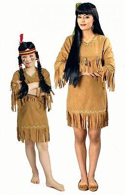 Kostüm Indianerin Damen Mädchen Indianerkostüm Gr.116-152 36-46 (Indianer Kleid)