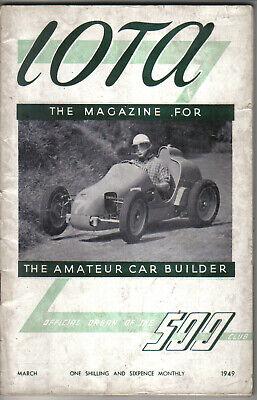 IOTA 500cc Racing Club Magazine March 1949 Official Organ of the 500 Club
