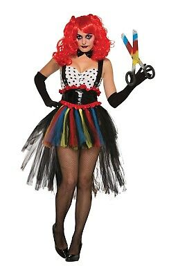 Girlie Clown Adult Womens Halloween Fancy Dress Costume One Size Tutu Bowtie ](Girly Halloween Costume)
