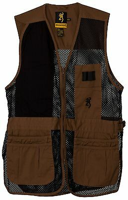 Browning Trapper Creek Mesh Shooting Vest Clay/Black 3050266804 Size - XL