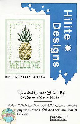 Cross Stitch Kit ~ Kitchen Colors - Pineapple Welcome #HD800G OOP SALE!
