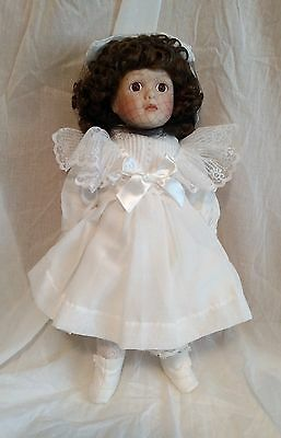 Porcelain The Littlest Gibson Girl Victoria Doll Franklin Mint Heirloom with Box
