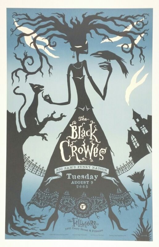 The Black Crowes original SF Fillmore poster. 2005 Tour