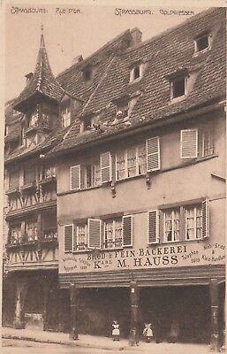 AK Strasbourg. Rue d'Or / Strassburg. Goldgiessen.