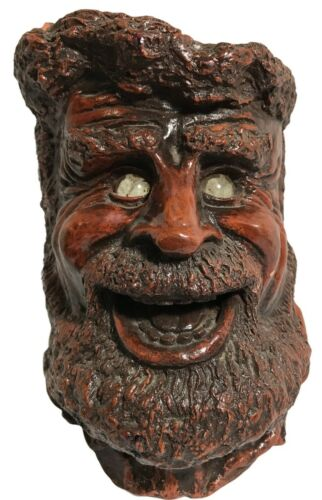 Matchless Grove Jason Christoble Glass Eye Laughing Man Candle Holder 1976 VTG