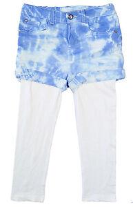 Girls-Sweet-Millie-Tie-Dye-Denim-White-Leggings-Set-2-10-yrs-NEW