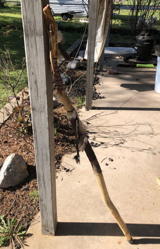 Native American Beaded Walking Stick Free Shipping