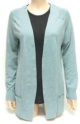 KERSH Ladies Buttonless CARDIGAN Smoke Blue Green DRAPE Easy Wear Soft Feel