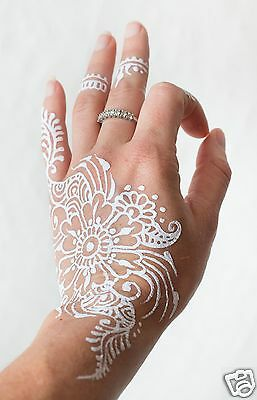 3 X INDIAN WHITE PASTE -TEMPORARY - FOR MEHNDI AND HENNA DESIGNS *BEST BUY* JT3 (New Best Mehndi Design)