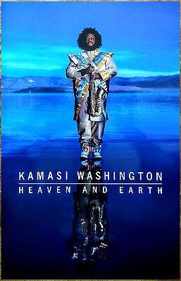 KAMASI WASHINGTON Heaven And Earth 2018 Ltd Ed New RARE Poster Display! Jazz
