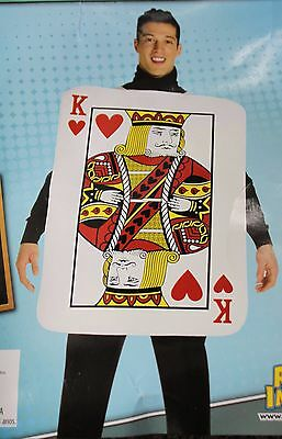 KING OF HEARTS ADULT COSTUME Mens Foam Playing Card Unique Romantic One Size NEW - Unique Costumes Men