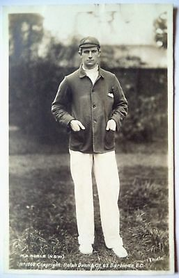 MONTY NOBLE AUSTRALIA 1905 RALPH DUNN REAL PHOTO CRICKET POSTCARD