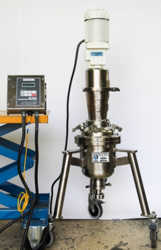 Charles Ross Vertical 7L Stainless Vacuum Mixer w/ AC Tech MC Series  (4766)
