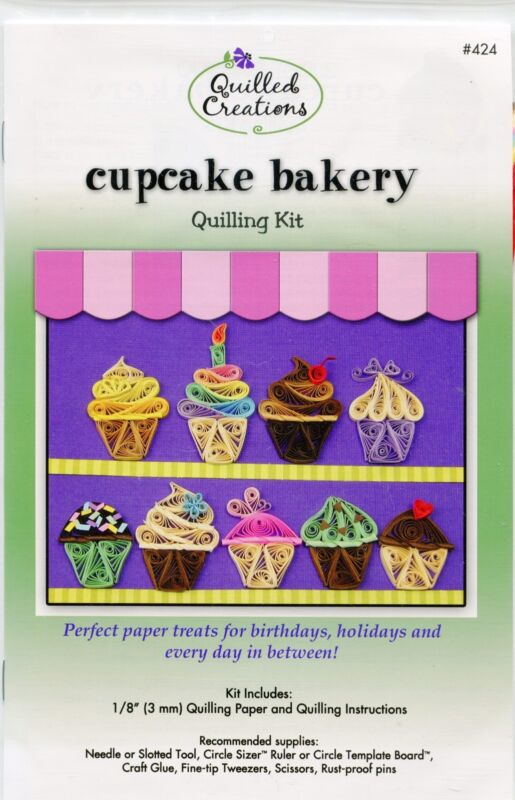 Quilled Creations CUPCAKE BAKERY Quilling KIT #424 -Paper + Instructions NIP