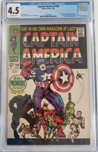 Captain America #100 CGC 4.5 Marvel Comics Jack Kirby 1968