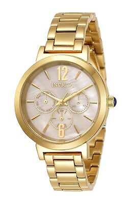 Invicta Women's Angel 31084 39mm Gold Dial Stainless Steel Watch