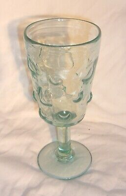 1 KALALOU COBBLED DRINKING GLASS GOBLET IN VERY GOOD CONDITION MADE IN COLOMBIA