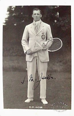 Sydney Jacob 1920 S Indian Davis Cup Player Vintage Signed Tennis Postcard