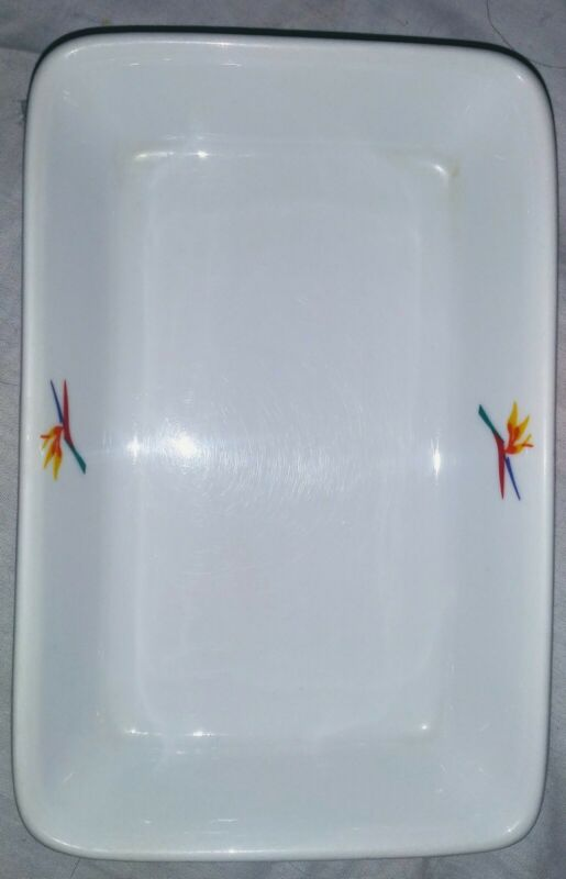 Casserole Dish Aloha Airlines Bird of Paradise