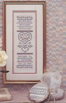 Sweetheart Tree -Pastel Palette Sampler Cross Stitch Pattern