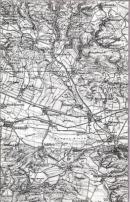 Kelbra Berga Rottlebrode 1936 Teilkarte/Ln. Schwenda Heringen Dietersdorf Urbach