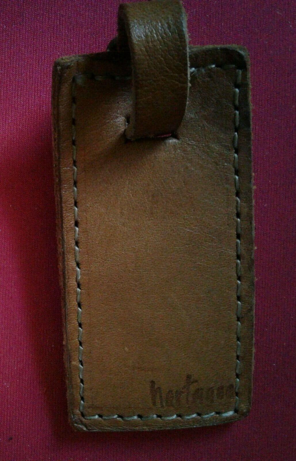 Vintage Hartmann Light Brown Tan Luggage Tag - $8.59