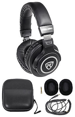 Rockville PRO-M50 Studio Stereo Headphones+Detachable Cable+Case+Extra Ear Pad