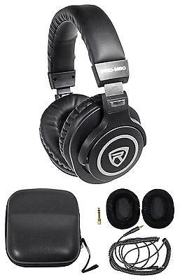 Rockville PRO-M50 Studio Stereo Headphones+Detachable Cable+Case+Extra Ear Pad