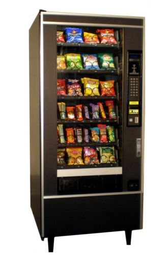 National Vendors Snack/Candy Machine with Credit Card Reader - Accepts $1 & $5